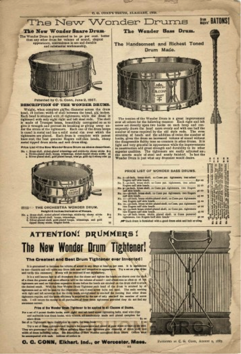 C.G. Conn Wonder Instruments 1890