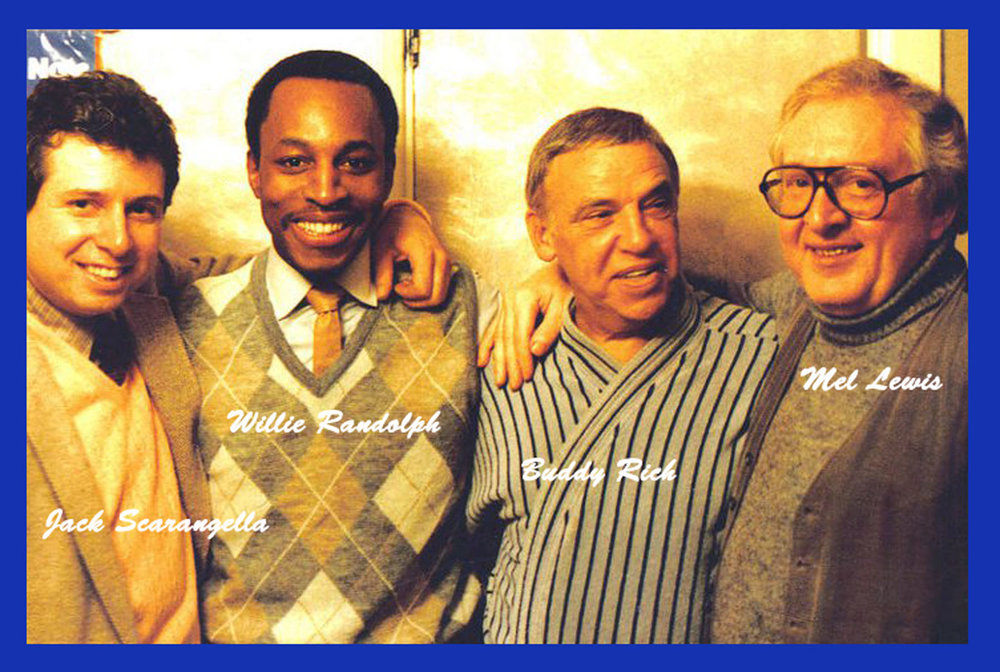 Special night...Special friends...Special evening at the Blue Note - New York City...Jack Scarangella, Willie Randolph, Buddy Rich, and Mel Lewis...Listening to Buddy's band...One of the best nights of my life on planet Earth... R.I.P. Buddy & Mel...Till We Meet Again...