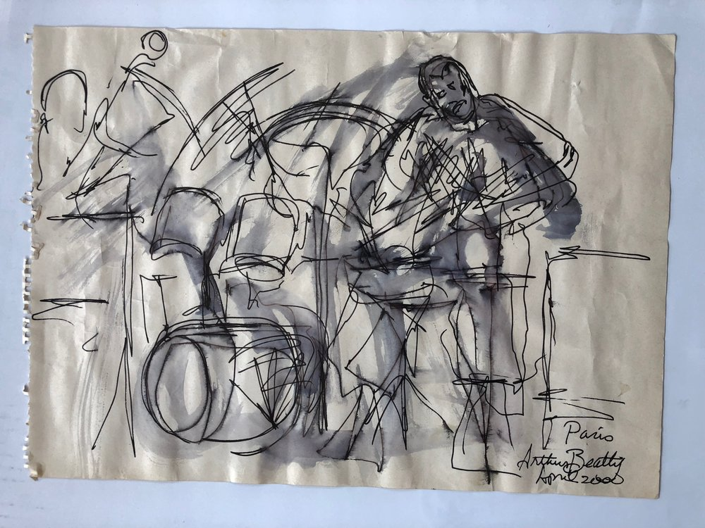96, Arthur Beatty Sketch, Paris 2000.jpg