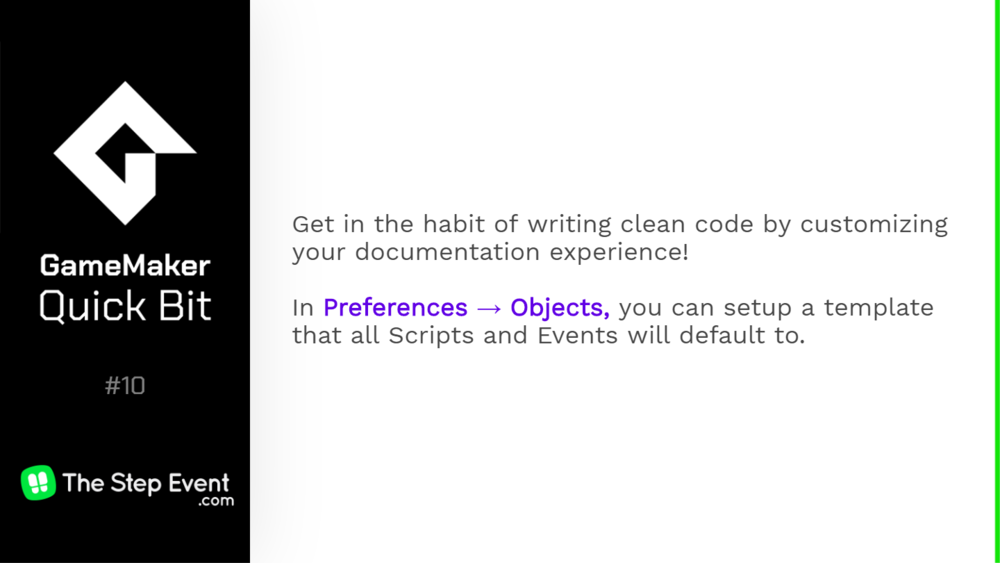 Get in the habit of writing clean code by customizing your documentation experience!
