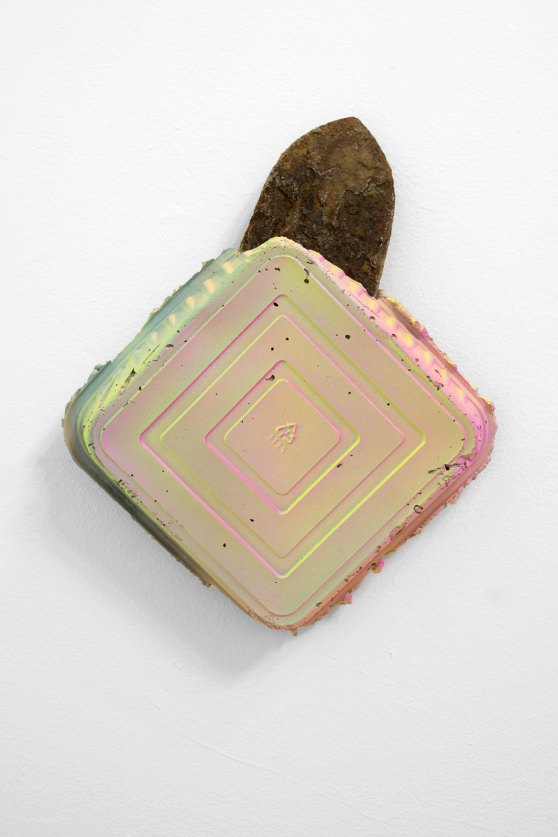 "Reap/Sow VI   Cement, perlite, trowel, wire mesh, binding wire, acrylic paint. 13""x11""x3"" 2016  Photo Credit:  Disjecta  and  Evan La Londe"