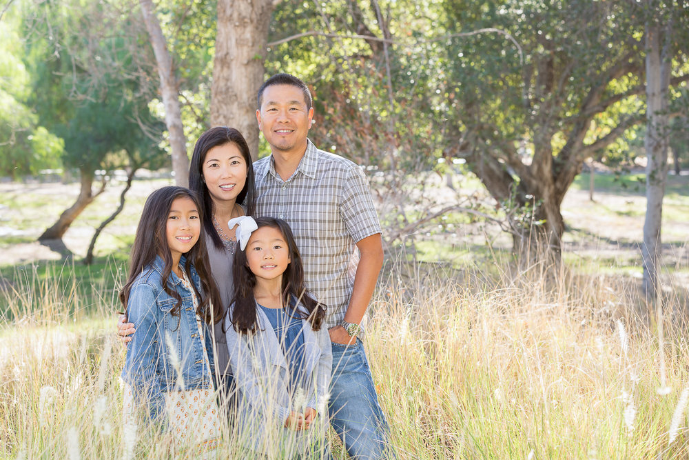 Asian family pictures at Yorba Regional Park