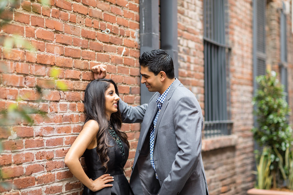 Brick wall romantic engagement photoshoot.jpg