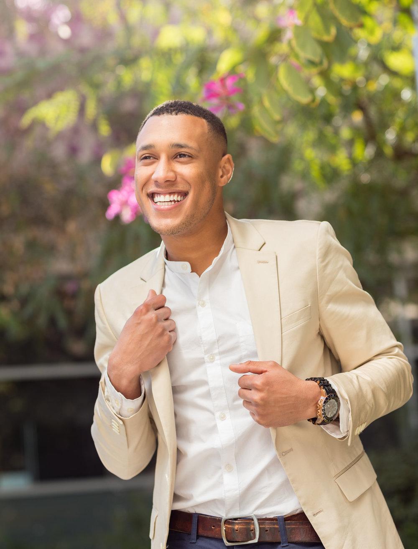Male Model Beige Jacket Garden.jpg