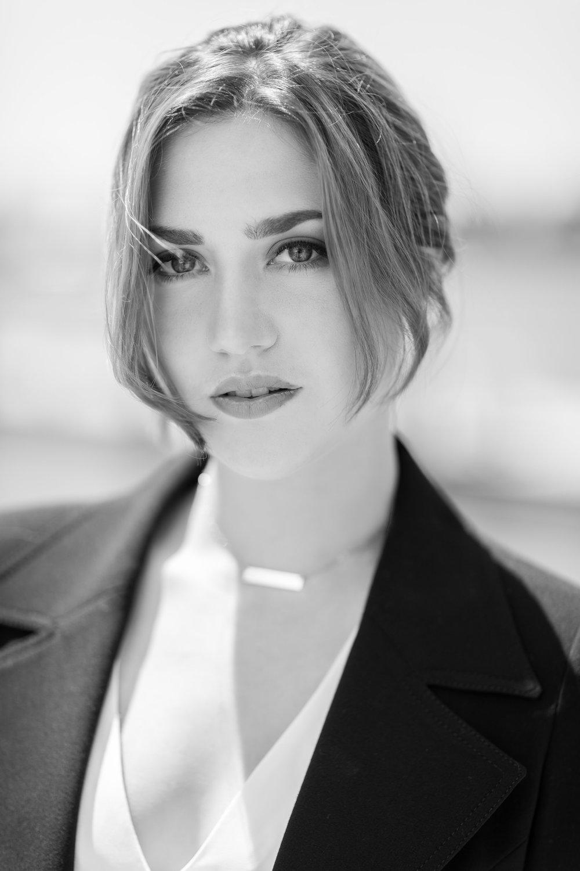 Beautiful Black and White headshot of young adult female model.jpg