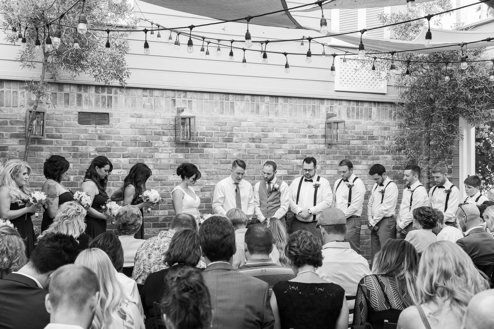 Black and White Photo of M Restaurant Wedding Ceremony.jpg