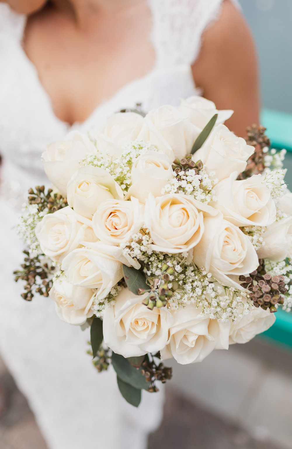 Photo of White Roses for Wedding Bouquet.jpg