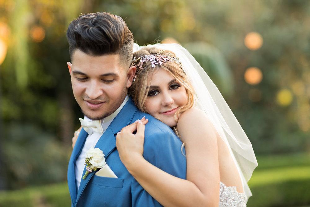 Sweet and Romantic Wedding Photo of Bride and Groom.jpg