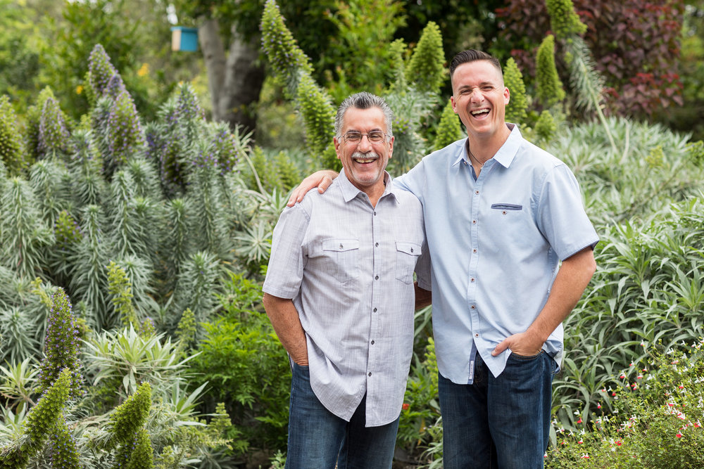 HB Photo of Father and Adult Son in outdoor garden.jpg