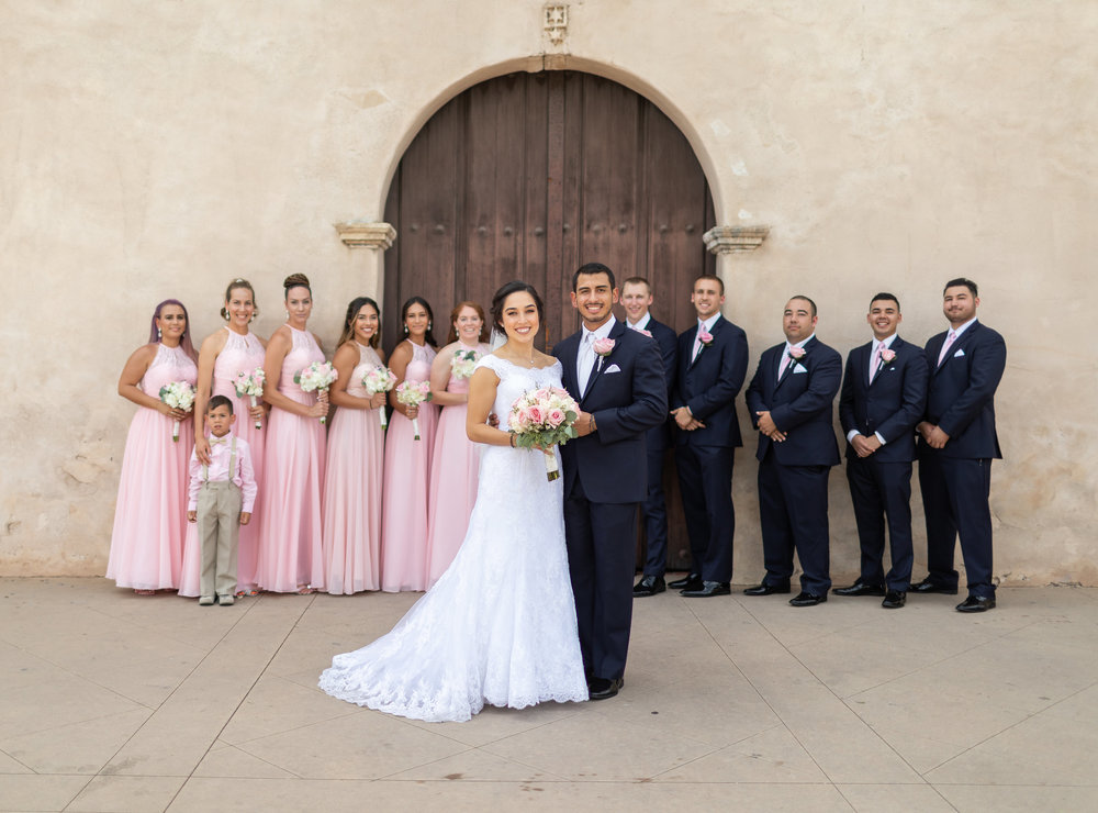 ! Wedding Party Photo at San Gabriel Mission.jpg