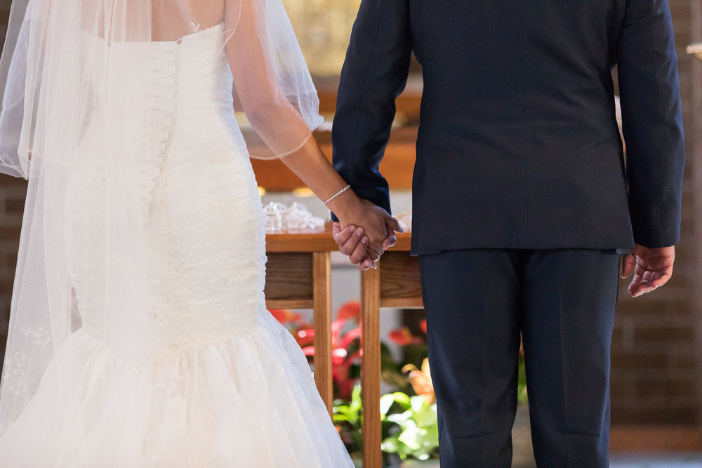 ! Bride & Groom Holding Hands Artistic Wedding Shot.jpg