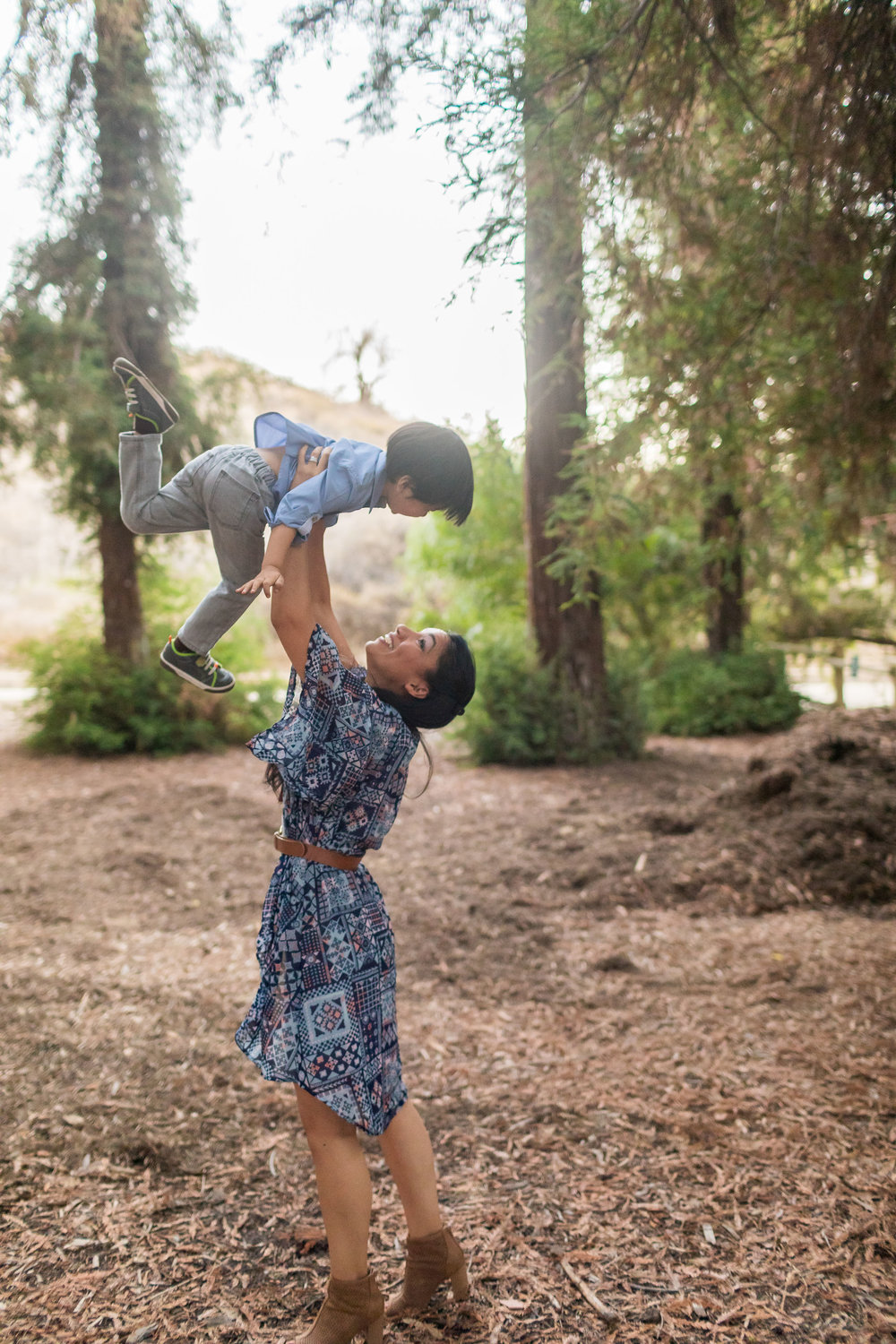 ! Mother Son Family Portrait Session in the Forest Orange County Photographer.jpg
