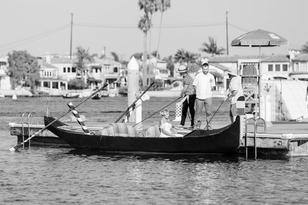 Grand Entrance via Gondola Long Beach Wedding