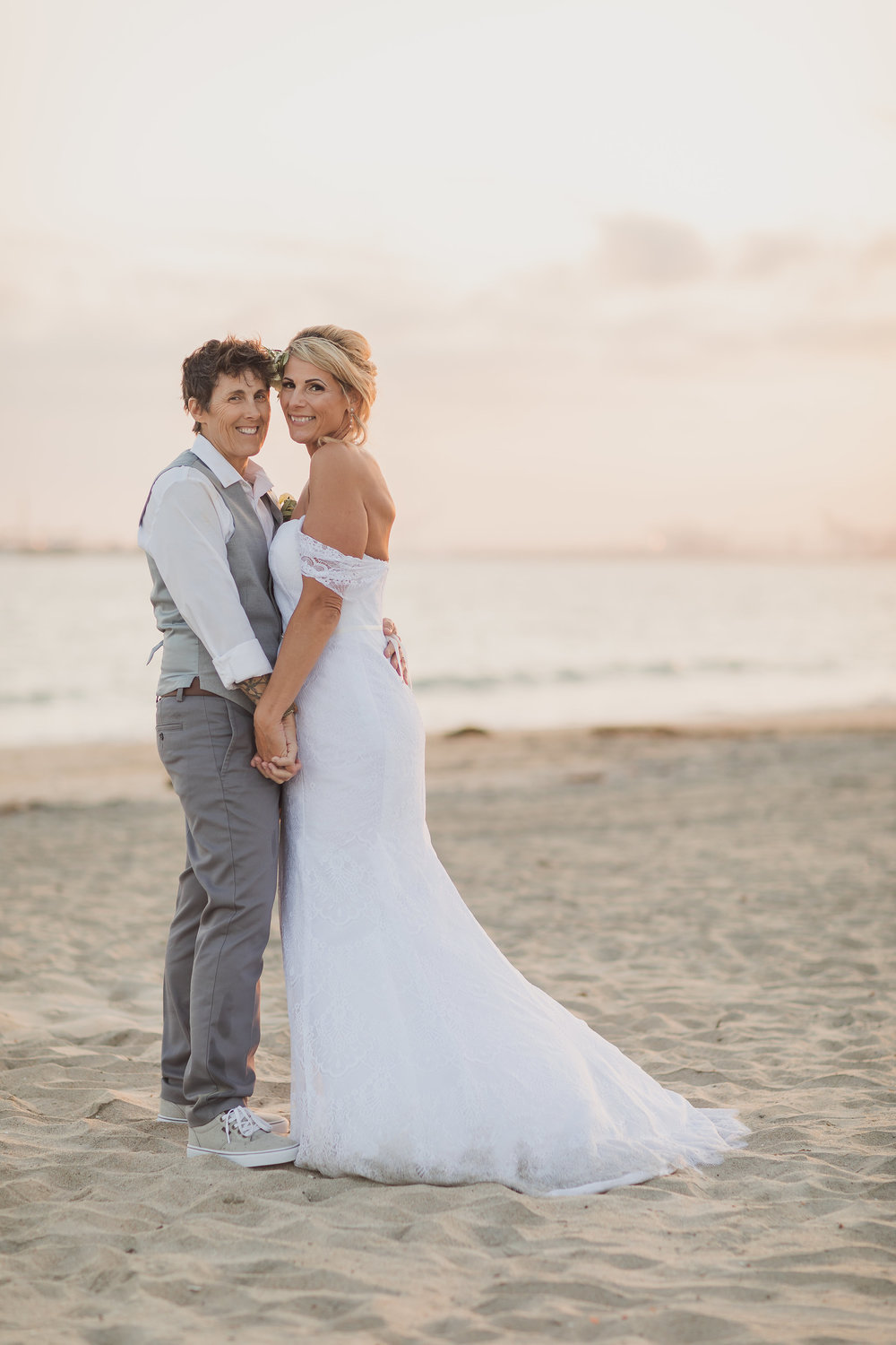 Sunset Wedding Portraits on the Beach for Hers & Hers.jpg