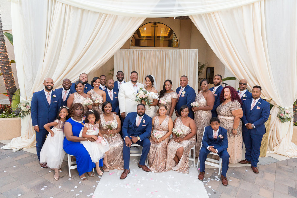 ! Entire Wedding Party The Grand in Long Beach by James Korin Photography.jpg