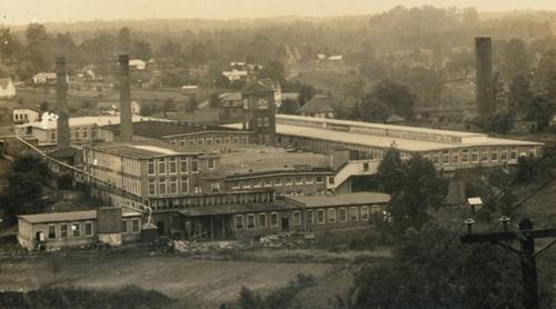 The Eno Cotton Mill, view north; early 20th century
