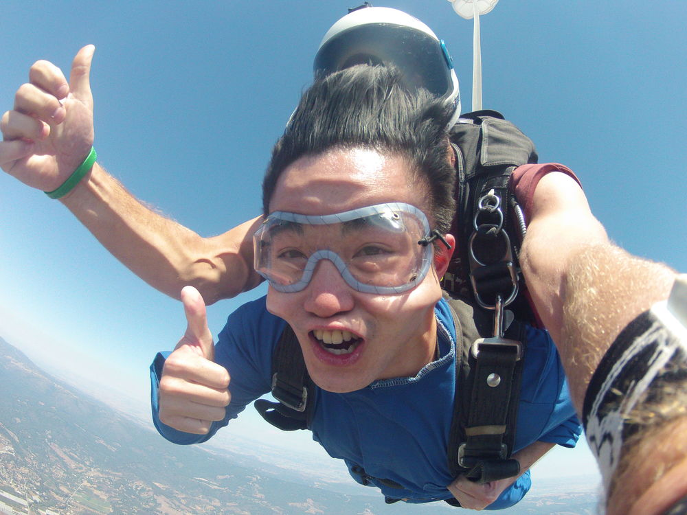 One of the most incredible things I have done: jump out and skydive out of plane at 13,000 feet while kissing the sky and taking in the breathtaking view of Watsonville, CA below me.