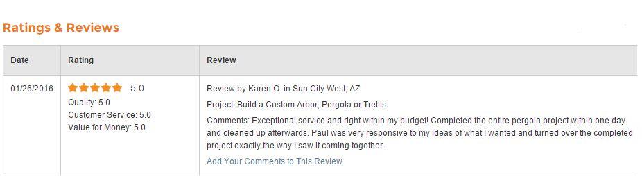 Reviews — AZ Framing and Remodeling, LLC