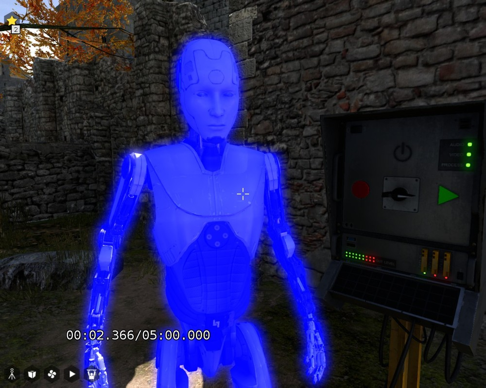 A hologram recording of yourself - the nameless Android.