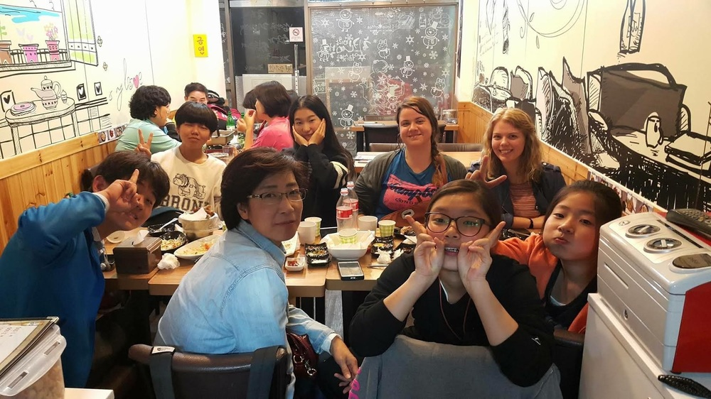 Belinda and I went for chicken with some of our middle school students and their friends.