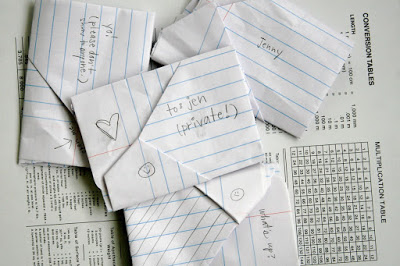 folded notes love notes junior high style jen geigley knits