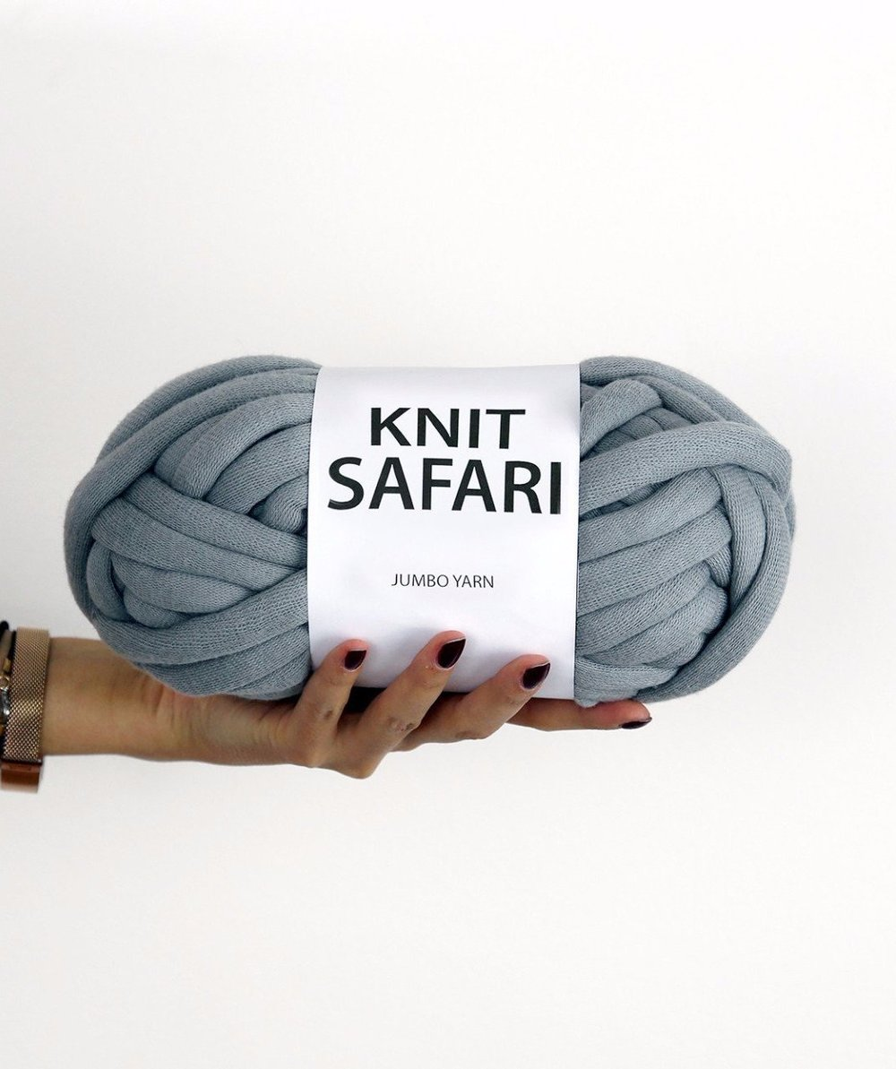 Knit Safari is my hands-down favorite big, big, BIG yarn. Smooth and glorious and zero of that roving shedding, THIS is the yarn you want to use if you make one of those giant blankets. (I know because I made one for my latest book and it's perfection.) Find Knit Safari Jumbo Yarn  here .