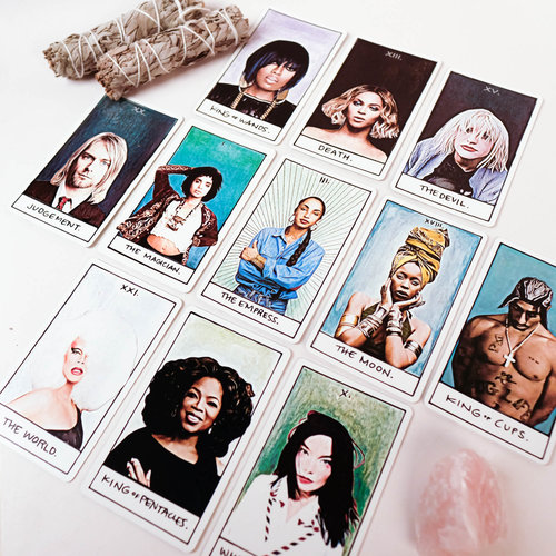 Trust me when I say that you need the Illest Tarot Vol. 2 in your life right now, featuring all your 90s heroes. It's so good and my good friend Kristi made it so it's extra good. Get yours  here  before they're gone forever.