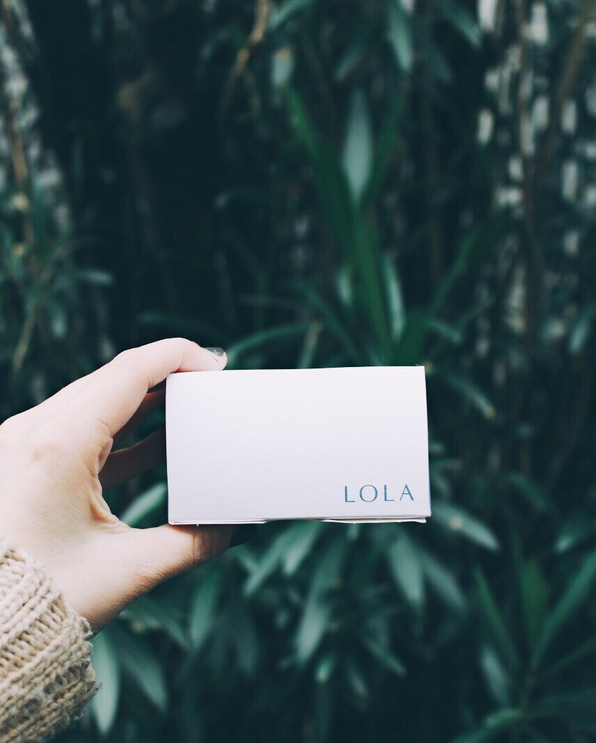 LOLA organic cotton tampons and pads | eco-friendly feminine hygiene products | tintedgreenblog.com