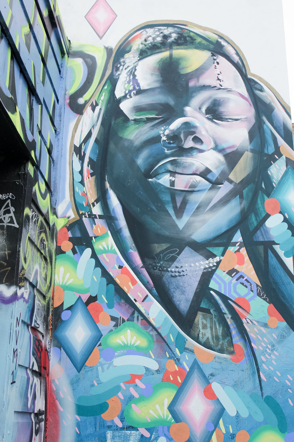 mural art in Clarion Alley in San Francisco's Mission District | tintedgreen
