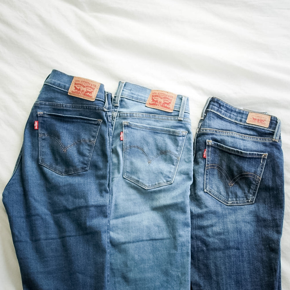 capsule wardrobe levis jean collection