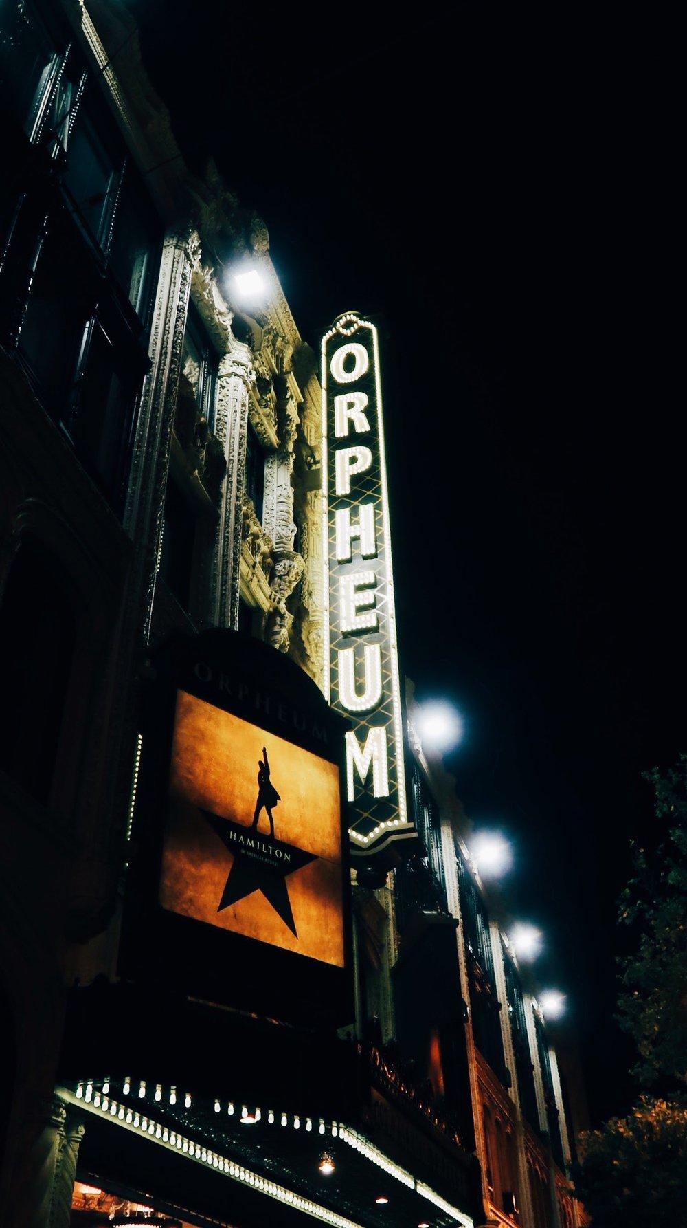 Hamilton at the Orpheum in San Francisco