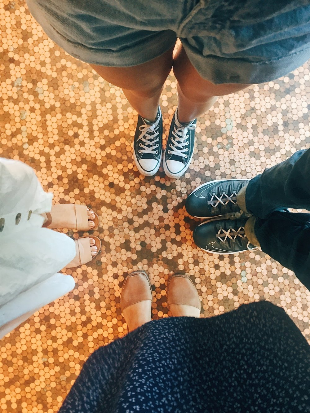 i had to show my cousins the penny floor at temple coffee. it was their first time really hanging out in sacramento and i think htey were impressed