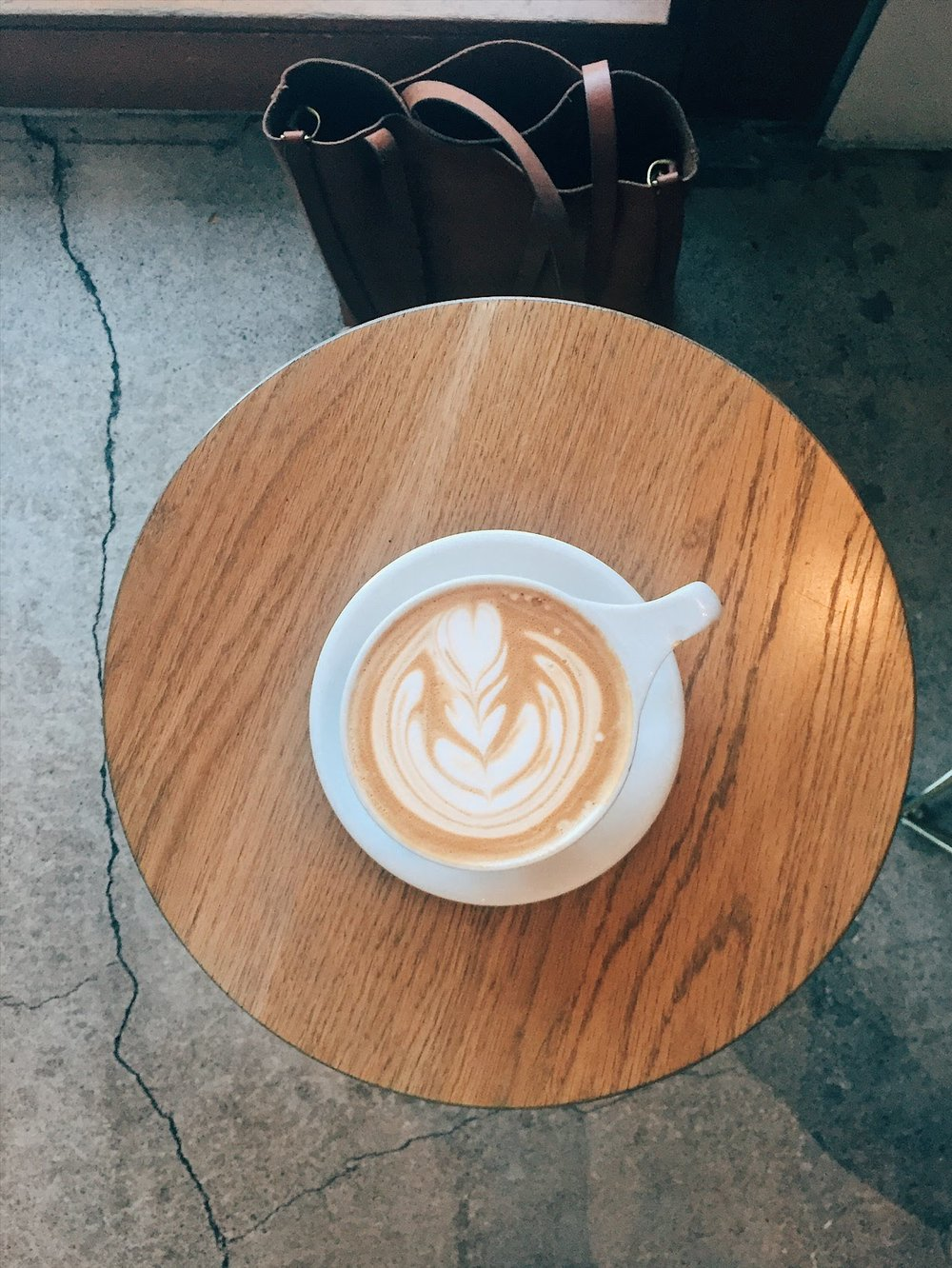 latte art at kit coffee in newport beach, california