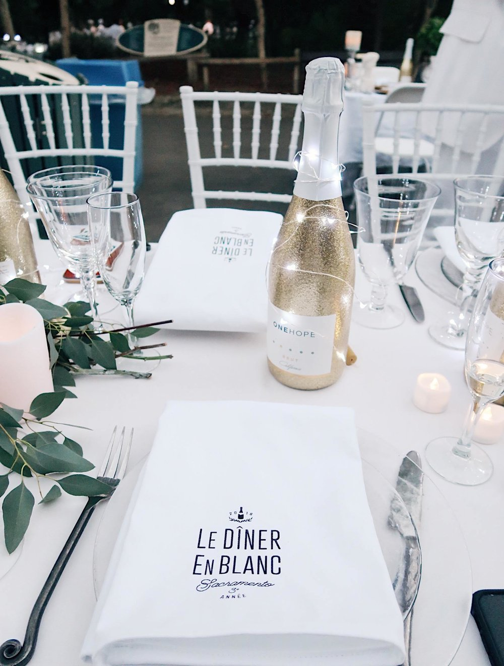 Le Diner en Blanc, Sacramento 2018 | OneHope Wines | Tinted Green