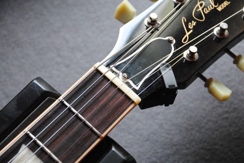 Gibson Les Paul mit Knochen-Sattel