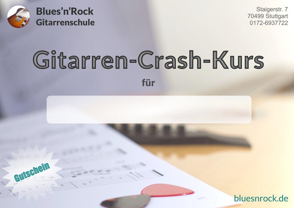 Gitarrenunterricht-Gutschein bei der Blues'n'Rock Gitarrenschule Stuttgart