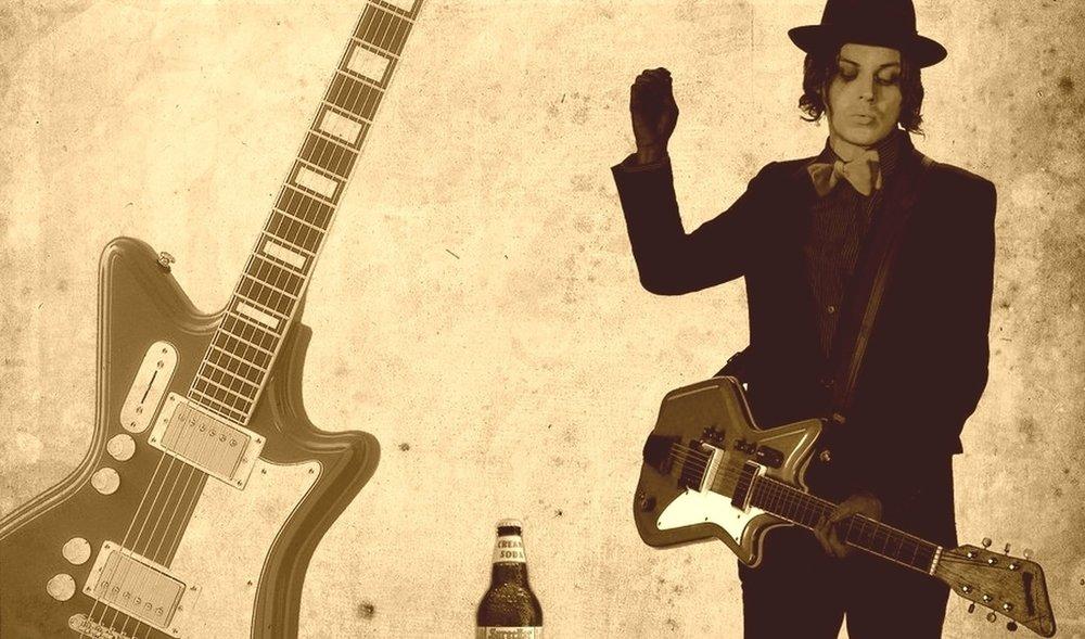 Jack White spielt bis heute u.a. sehr günstige  Airline -Gitarren.