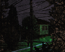 Street View 2am (dark room) 2014 Intaglio, graphite, pastel and photoluminescent pigment on paper.