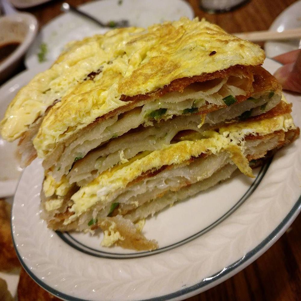 Green Onion Pancake with Egg.