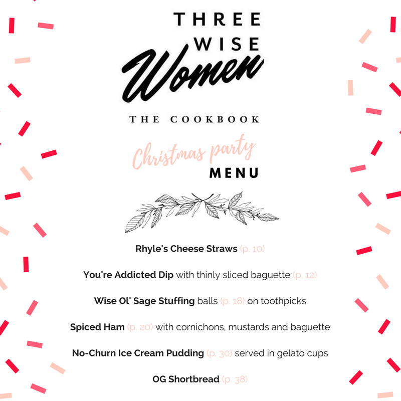 Three Wise Women Christmas Menu