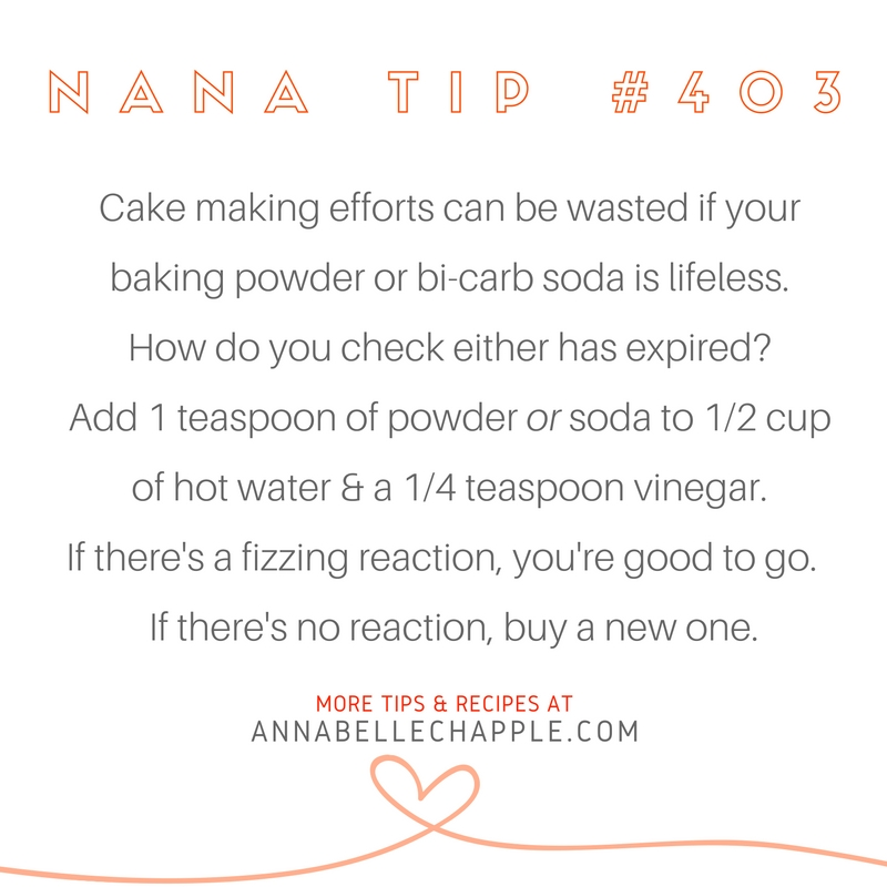 Cooking Tip Annabelle Chapple