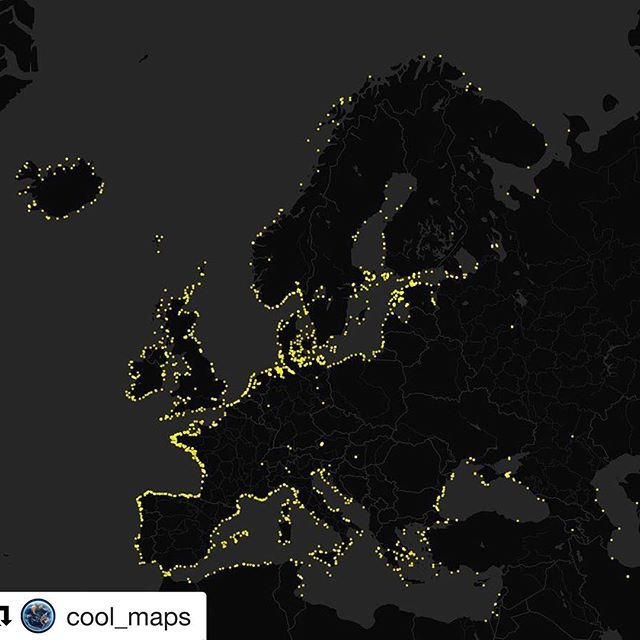 #Repost @cool_maps (@get_repost) ・・・ Lighthouses of Europe