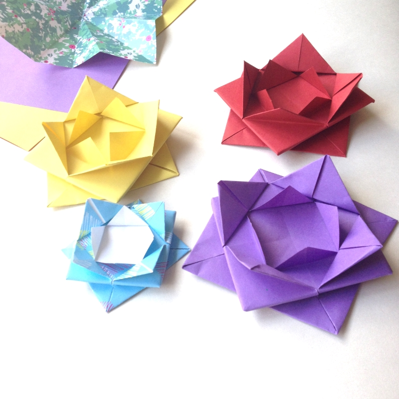 Tutorial How To Make An Origami Lotus Flower Little Paper Vee