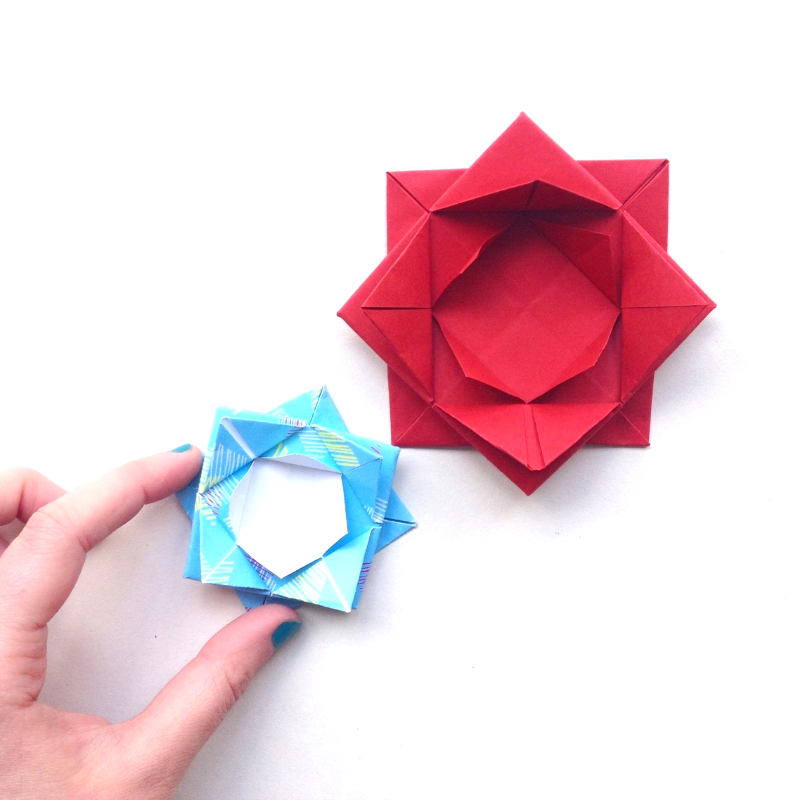Tutorial how to make an origami lotus flower little paper vee mightylinksfo