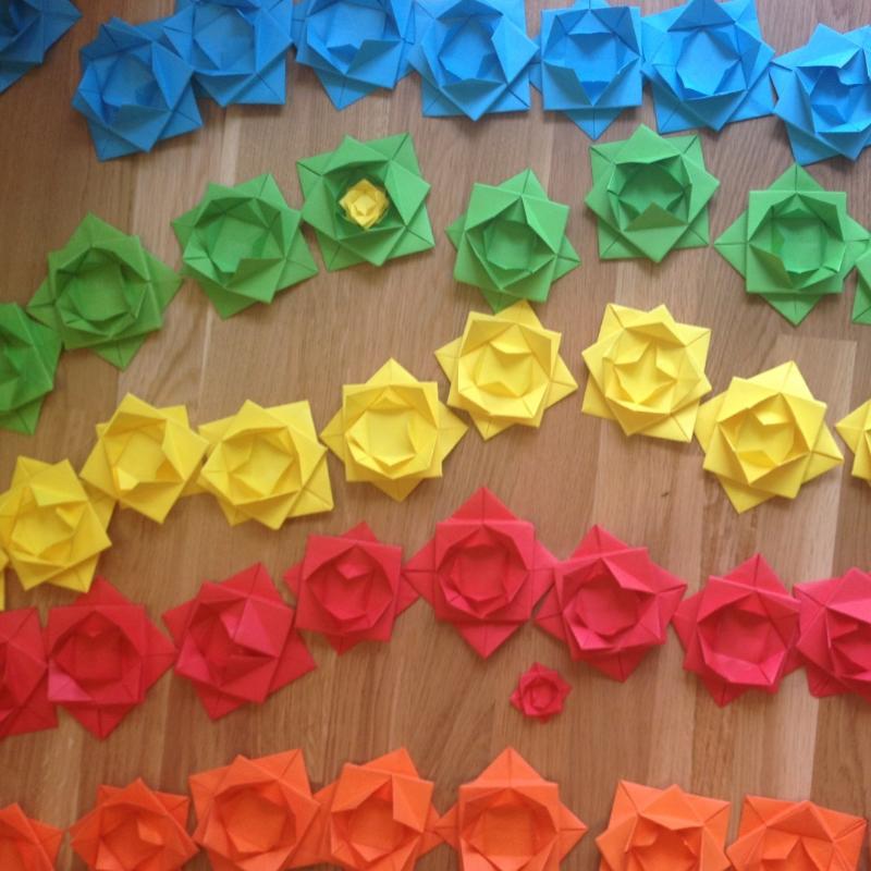 Project Update 3 Kachette Installation Origami Fun Little