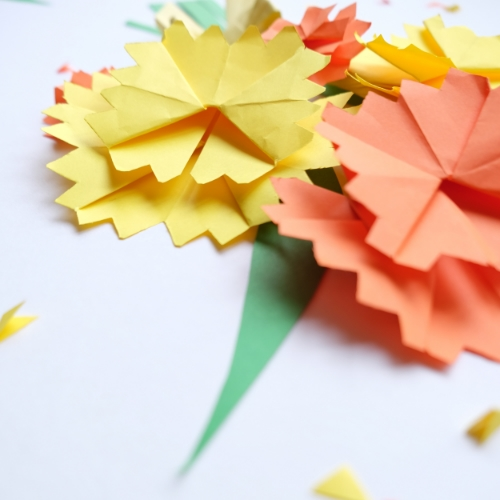 Mothers Day Origami Carnations Little Paper Vee
