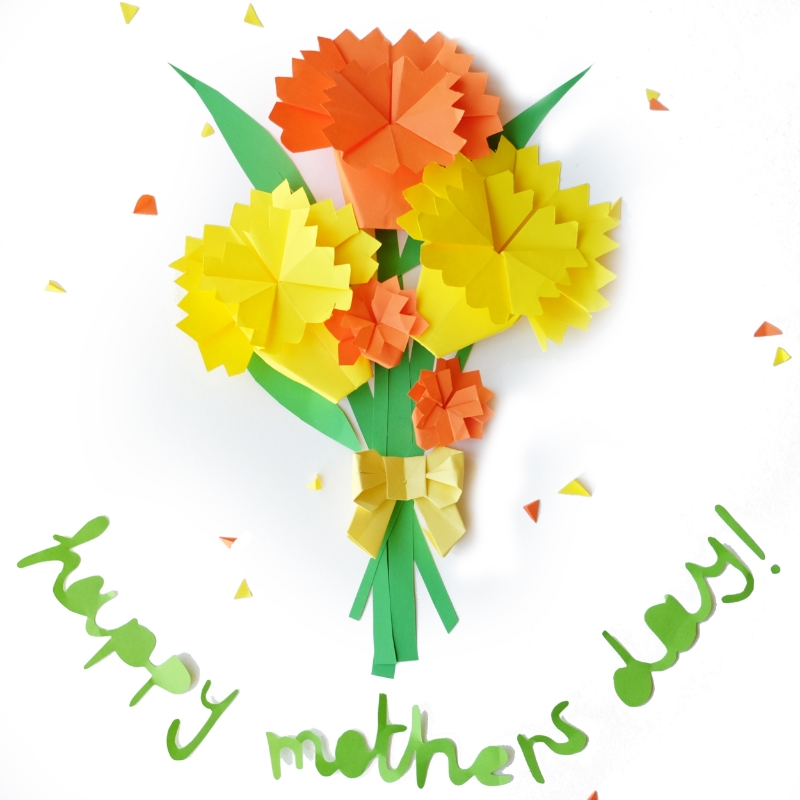 Mothers day origami carnations little paper vee mothers day origami carnations mightylinksfo