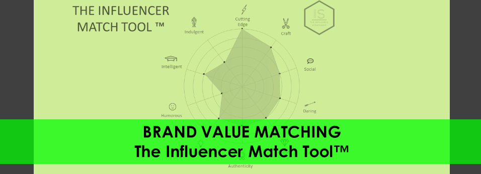 """The Brand Values map - from """"The Influencer Match Tool"""" (TM)"""