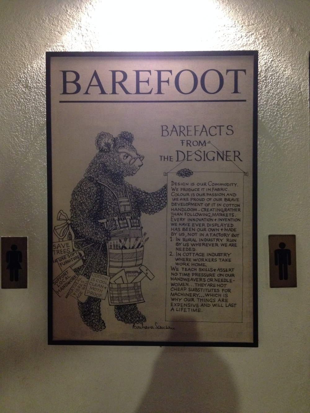 Information about Barefoot on display at their Colombo store