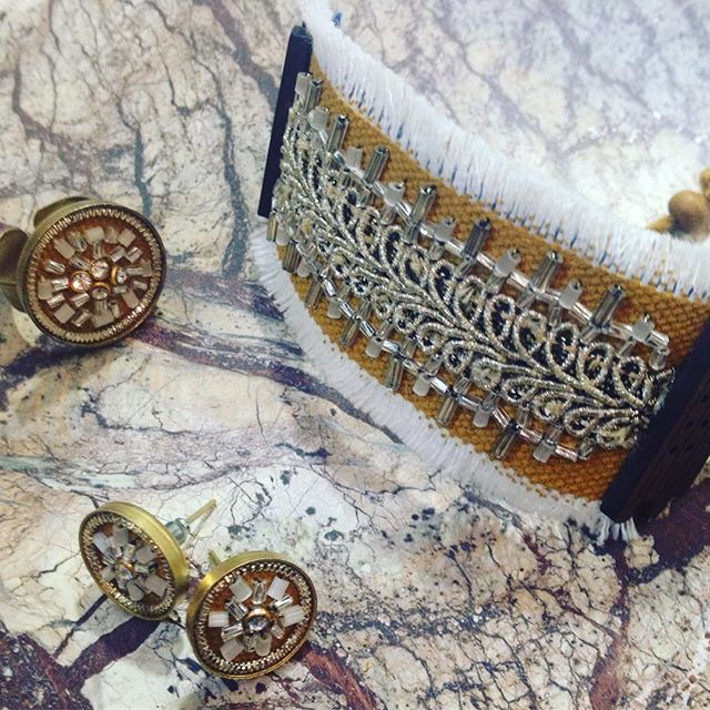 More new products in the Danaqa store from @masoudi.london #handembroidered cuff, ring and earring sets #madeinIran #handmade supporting #women #business #ethicalfashion #ethicaljewellery #ethicalstyle